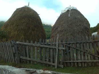 Traditional haystacks Lepusche