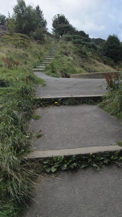 Steps to White Wells spa and cafe, Ilkley Moor