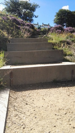 Ilkley Moor steps to White Wells Spa and cafe
