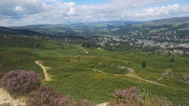 View over Ilkley Moor